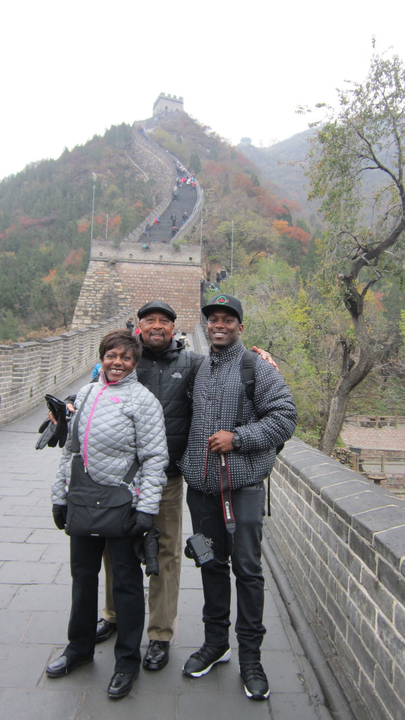 lee family at great wall